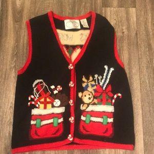 Vintage Retro Tacky Christmas 🎄 Sweater Vest